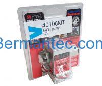 Facet pomp, 12 V inclusief nippel en filter, 40106KIT